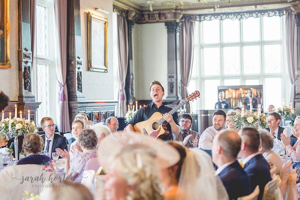 Singing Waiters at Crewe Hall, Cheshire Wedding Photography by Sarah Horton