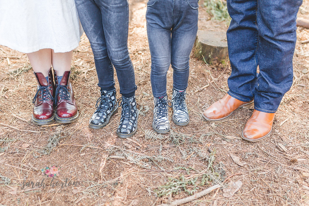 family doc Martens in the forest