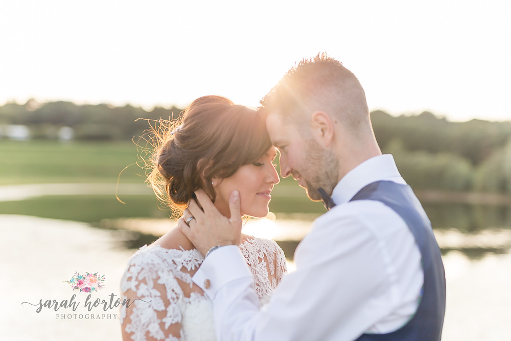 Sunset portraits at delamere events cheshire wedding photography
