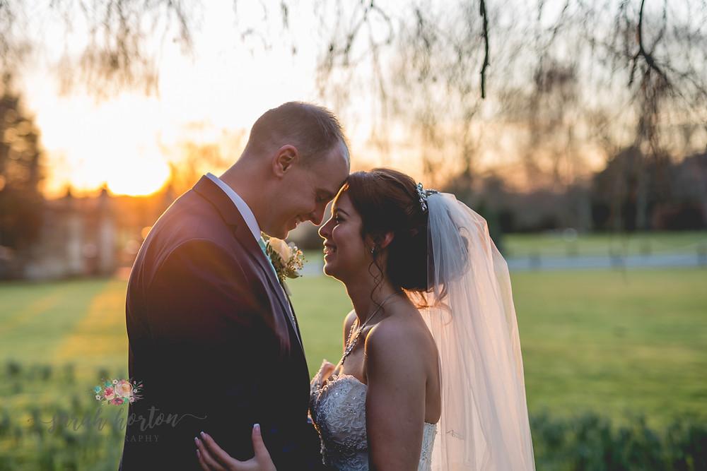 Sunset Portraits at Crewe Hall, Cheshire Wedding Photography by Sarah Horton