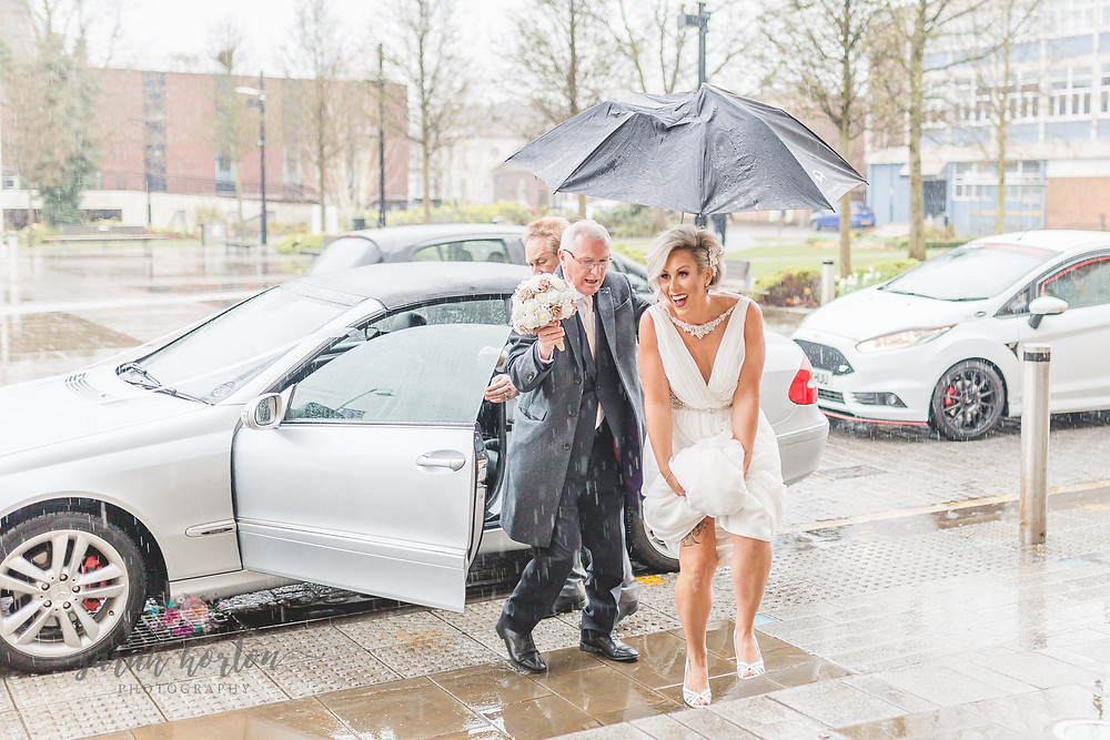 Intimate Cheshire Wedding Photography - Crewe Municipal Buildings