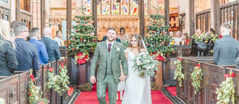A wet winter wedding at Alcumlow Wedding Barn