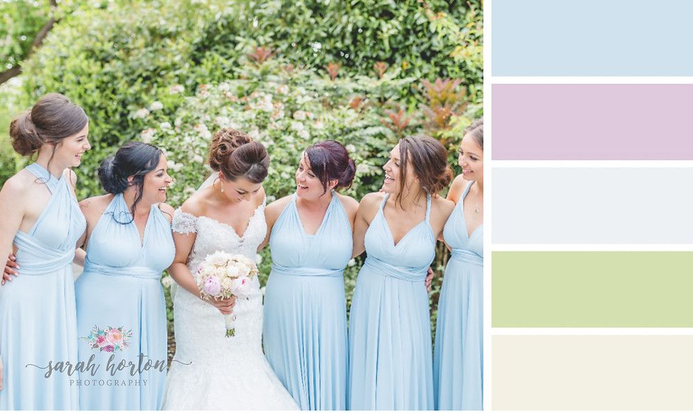 Styal Lodge Cheshire Wedding Photography Colour Palette Blues