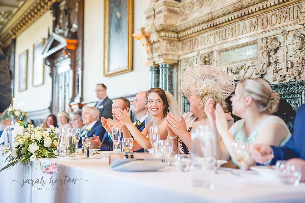 Singing Waiters at Crewe Hall Wedding, Cheshire, Sarah Horton Photography
