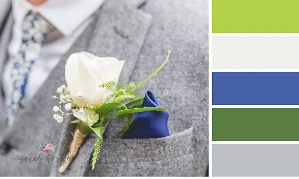 Sarah Horton Cheshire Wedding Photography Colour Palette Buttonhole