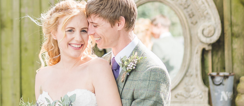 A rustic summer wedding at Alcumlow Wedding Barn, Congleton
