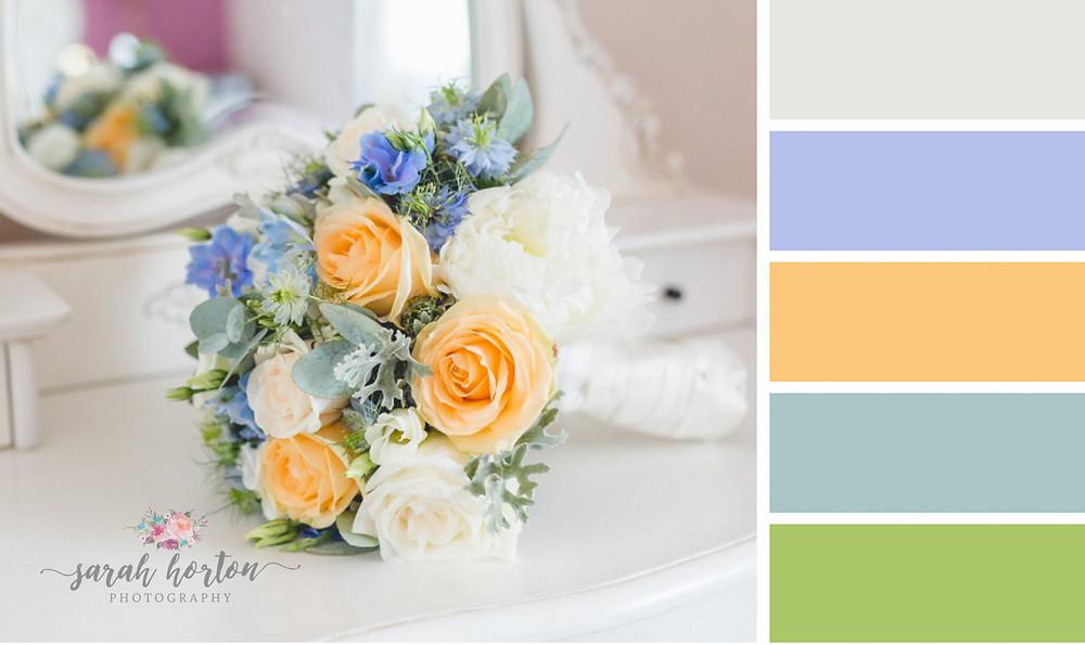 Sandhole Oak Barn Cheshire Wedding Photography Colour Palette