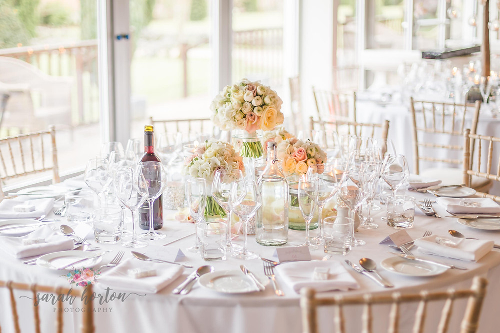 Combermere Abbey Cheshire Wedding Photography Pavilion Red Floral