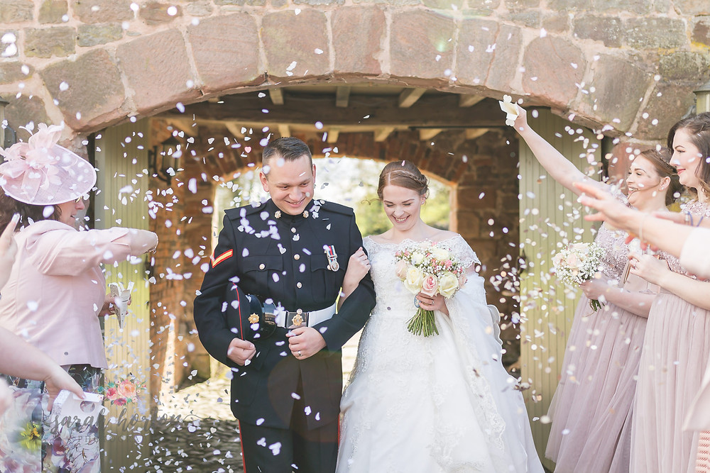 the ashes army wedding photography cheshire confetti