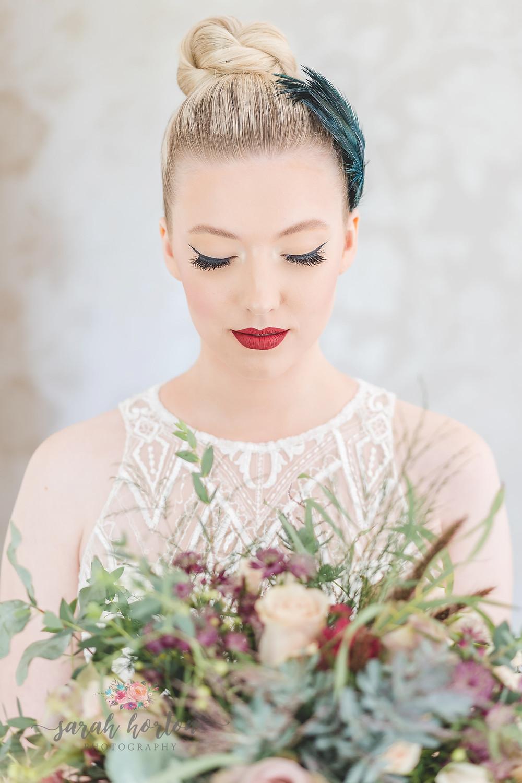 pretty bridal look at Cheshire wedding venue