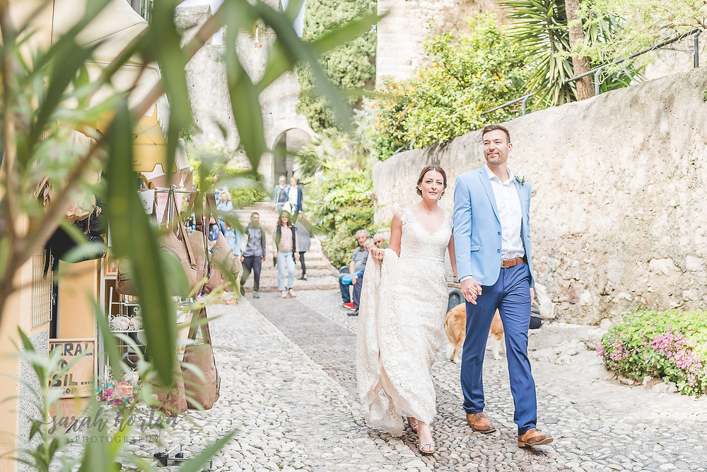 lake garda wedding photography at malcesine castle