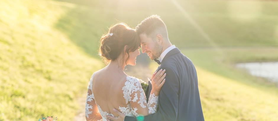 A summer wedding at Delamere Events