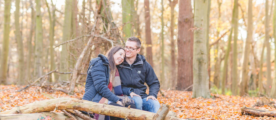 An autumnal Delamere Forest engagement shoot