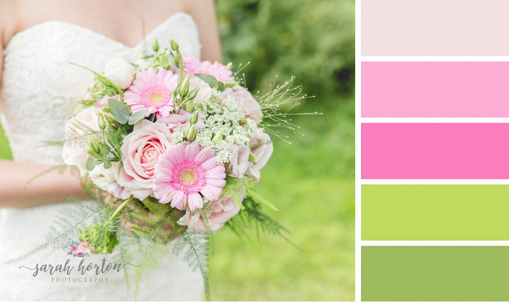 Sarah Horton Cheshire Wedding Photography Colour Palette Pinks