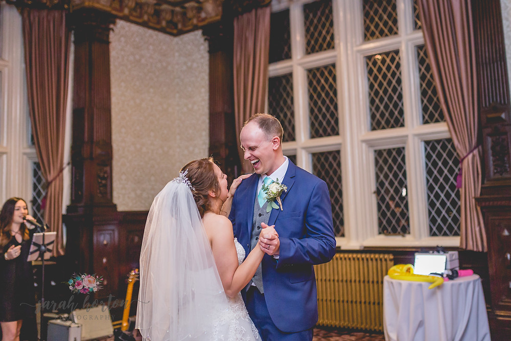 First Dance at Crewe Hall, Cheshire Wedding Photography by Sarah Horton
