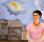 Peinture de Frida Kahlo, Autoportrait à la frontière entre le Mexique et les États-Unis