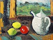 Peinture de Jean Couty, Nature morte au vase