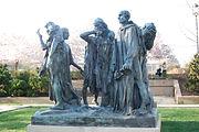 Sculptures de A.Rodin, Les Bourgeois de Calais, Washington