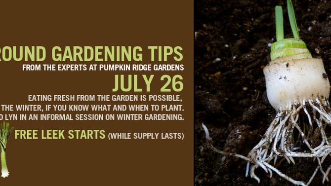 Year Round Gardening Tips with Pumpkin Ridge Gardens