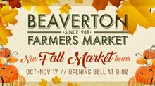 Fall Market Hours
