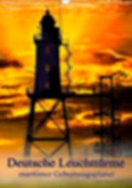 Leuchttürme und Leuchtfeuer, deutsche Leuchttürme, maritimer Geburtstagsplaner