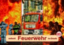 Feuerwehr und Feuerwehrfahrzeuge im Feuerwehrkalender, weltweit im Einsatz