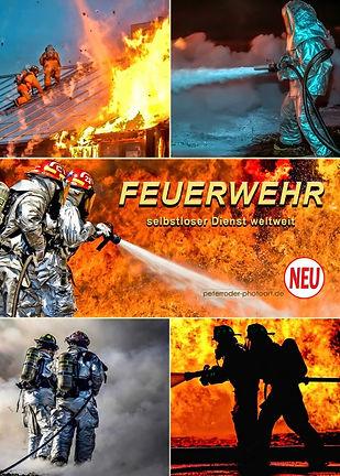 Feuerwehr und Feuerwehrfahrzeuge im Feuerwehrkalender, selbstloser Dienst weltweit