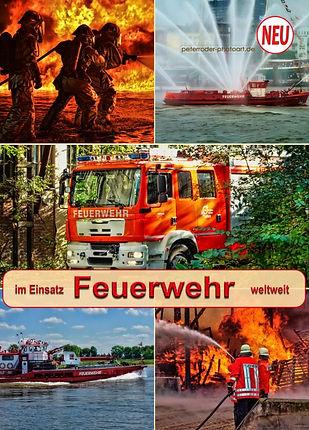 Feuerwehr und Feuerwehrfahrzeuge im Feuerwehrkalender, im Einsatz weltweit