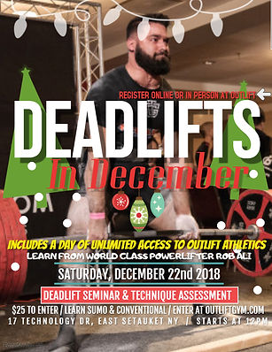 Deadlifts in December - Made with Poster