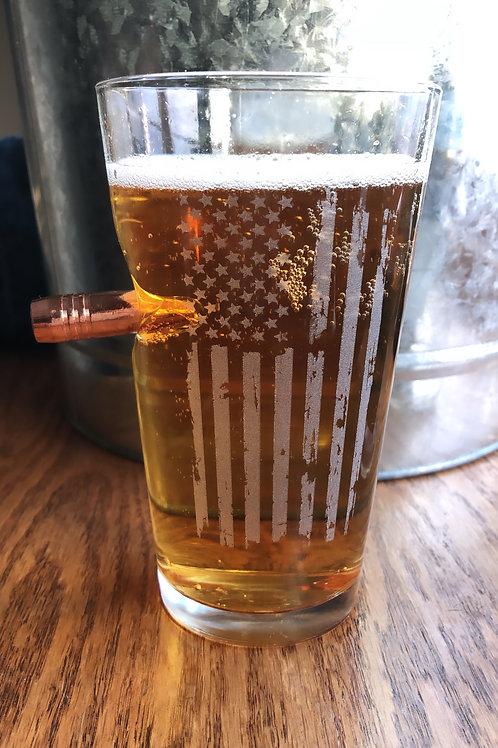 Patriotic Pint Bulletproof Beer Glass