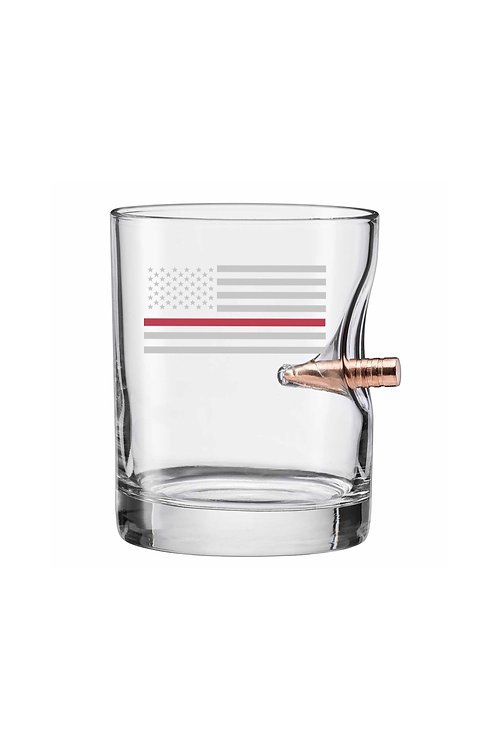 Red Thin Line Bullet Glass