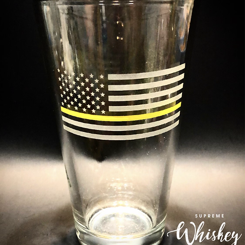 Thin Yellow Line Pint Glass with no bullet