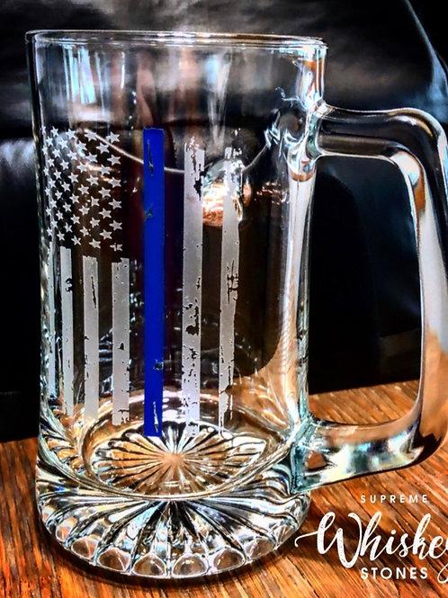 Thin Blue Line Beer Mug