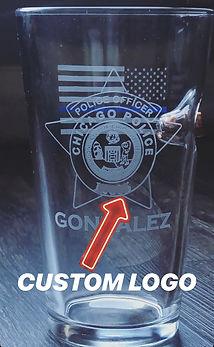 Pint Glass Cutom Logo photo.JPG