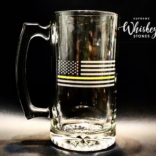 Thin Yellow Line Beer Mug with no bullet