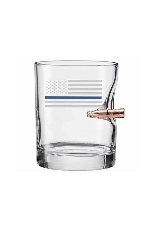 Thin Blue Line Bullet Glass