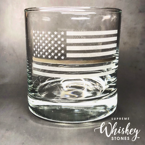 Thin Gray Line Whiskey Glass with no bullet
