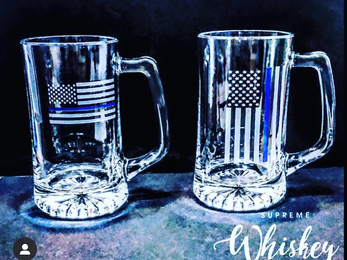 Thin Blue Line Beer Mug with no bullet