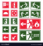 evacuation-and-emergency-signs-in-green-