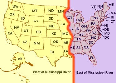 Map-Of-Mississippi-River-Showing-How-It-