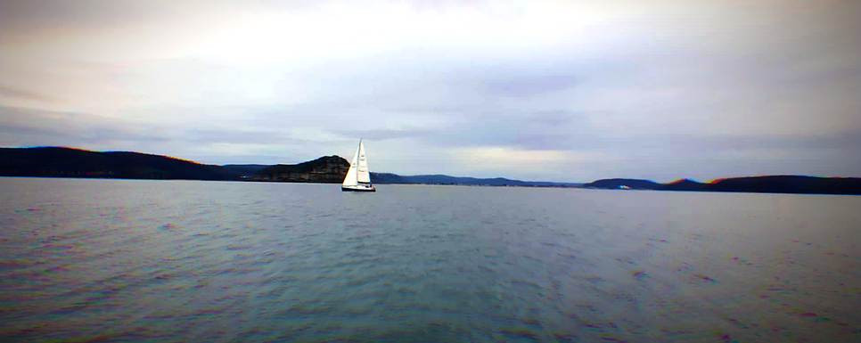 the view from sailing on lake macquarie