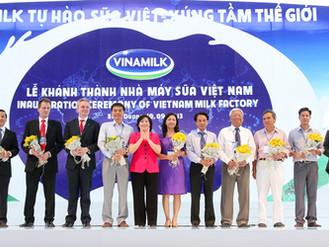 Khánh thành nhà máy Sữa Việt Nam - Nhà máy sản xuất sữa nước hiện đại bậc nhất Thế giới