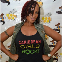 We spotted the Queen of Soca _alisonhinds rocking our Culture tank! #caribbeangirlsrock #culturetank #socaqueen #barbados