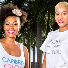The Sunny Beach Tank and Love My Caribbean Culture Tee, models Nellz & JanesishaMissVI