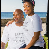 Love MyCaribbean Culture unisex tees in clean crisp white Gildan 100%natural cotton tee available this spring at shop.caribbeangirlsrock.jpg