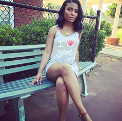 I Love Soca jumper, model MiaMarley