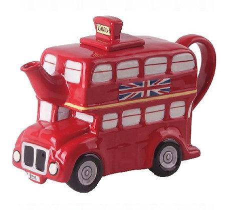 London Bus Teapot by Blue Sky Ceramics