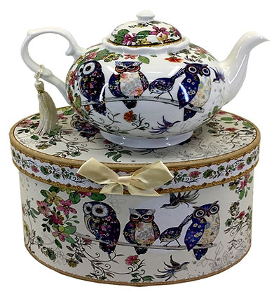 Owl Teapot with FREE Matching Teacup