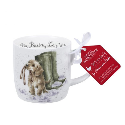 CHRISTMAS Royal Worchester Wrendale Mug -The Boxing Day Walk