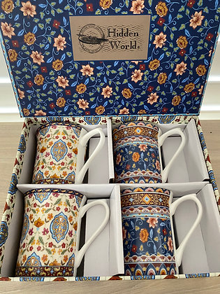 Queens 4 Mug Hidden World Collection - Gift Boxed